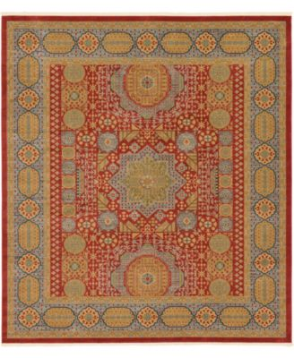 "Wilder Wld2 Red 10' x 11' 4"" Square Area Rug"
