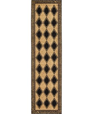 "Maasai Mss6 Light Brown 2' 7"" x 10' Runner Area Rug"