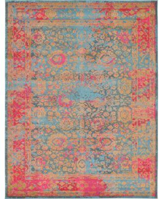 Sana San8 Blue 9' x 12' Area Rug