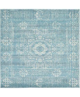 """Wisdom Wis3 Light Blue 8' 4"""" x 8' 4"""" Square Area Rug"""