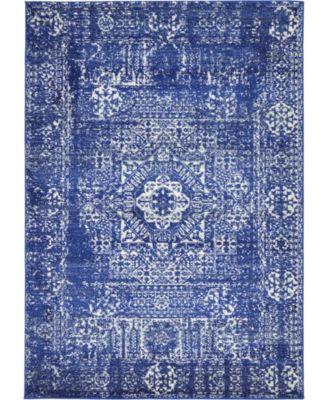 Wisdom Wis3 Royal Blue 4' x 6' Area Rug