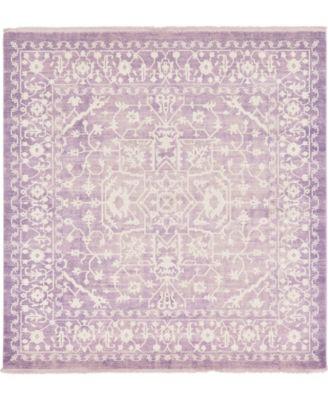 Norston Nor1 Purple 8' x 8' Square Area Rug