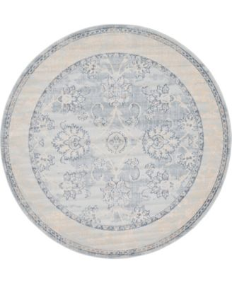 Caan Can6 Light Blue 6' x 6' Round Area Rug
