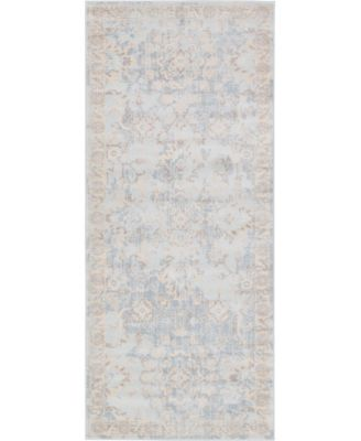 "Caan Can7 Light Blue 2' 7"" x 6' Runner Area Rug"