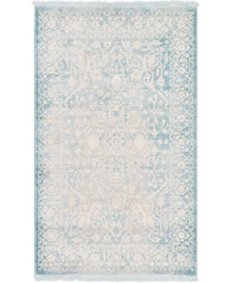 """Norston Nor1 Blue 3' 3"""" x 5' 3"""" Area Rug"""