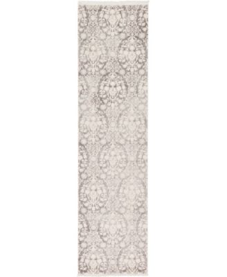 "Norston Nor5 Gray 2' 7"" x 10' Runner Area Rug"