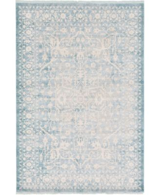 Norston Nor1 Blue 7' x 10' Area Rug