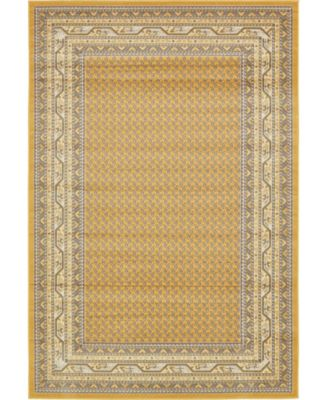 Axbridge Axb1 Yellow 6' x 9' Area Rug
