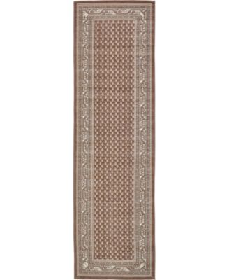 "Axbridge Axb1 Brown 2' 9"" x 9' 10"" Runner Area Rug"