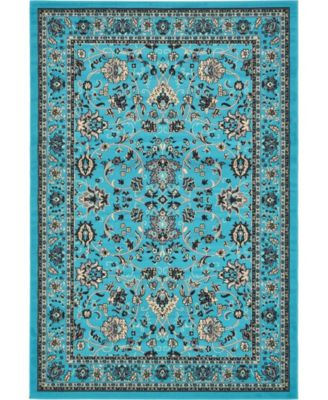Arnav Arn1 Turquoise 6' x 9' Area Rug