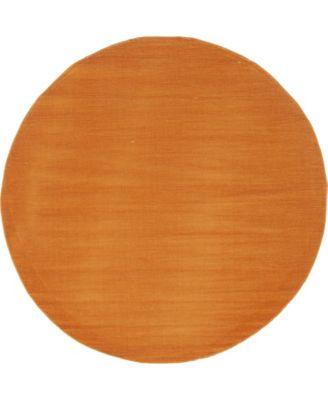 Axbridge Axb3 Orange 5' x 5' Round Area Rug