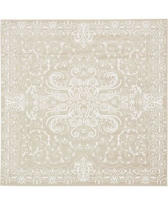 Marshall Mar4 Snow White 8' x 8' Square Area Rug