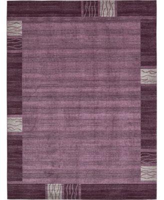 Lyon Lyo1 Purple 10' x 13' Area Rug