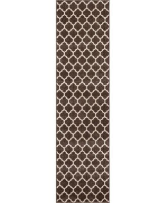 "Arbor Arb1 Brown 2' 7"" x 10' Runner Area Rug"