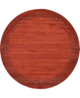 Lyon Lyo4 Terracotta 6' x 6' Round Area Rug