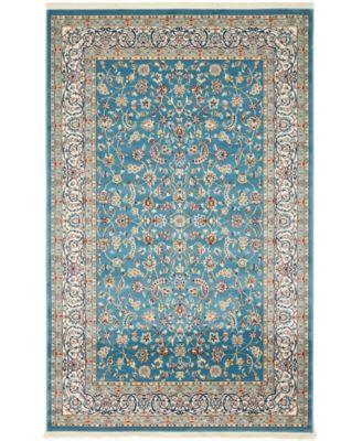 Zara Zar1 Blue 5' x 8' Area Rug