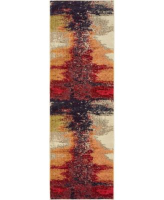 "Newwolf New2 Pink 2' 2"" x 6' 7"" Runner Area Rug"