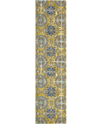 "Newwolf New5 Gold 2' 7"" x 10' Runner Area Rug"