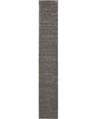 "Uno Uno1 Gray 2' 2"" x 13' Runner Area Rug"