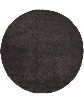 Uno Uno1 Charcoal 6' x 6' Round Area Rug