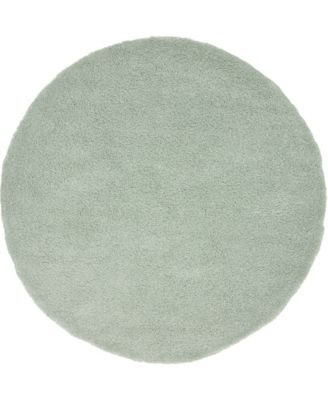 Uno Uno1 Light Blue 6' x 6' Round Area Rug