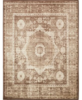 Linport Lin7 Chocolate Brown 10' x 13' Area Rug