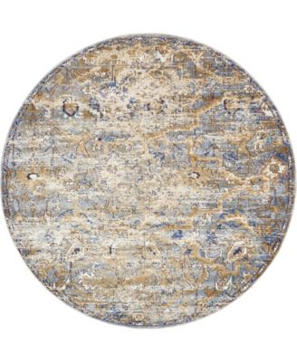 Ananta Ana2 Tan 8' x 8' Round Area Rug