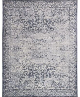 Odette Ode7 Dark Blue 9' x 12' Area Rug