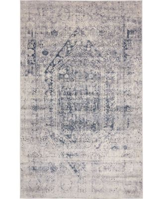 Odette Ode1 Gray 5' x 8' Area Rug