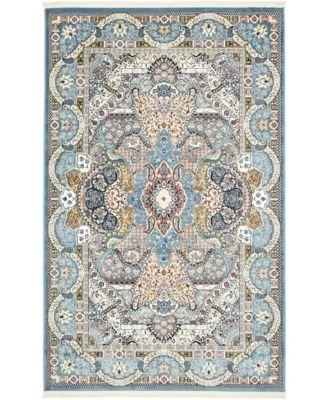 Zara Zar2 Blue 5' x 8' Area Rug