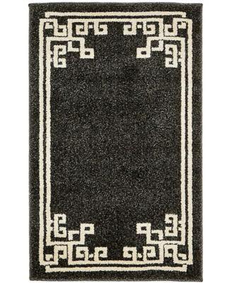 Anzu Anz3 Black 2' x 3' Area Rug