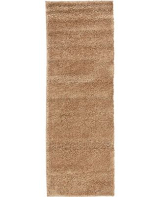 "Uno Uno1 Light Brown 2' 2"" x 6' 7"" Runner Area Rug"