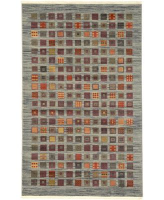 Ojas Oja6 Light Blue 5' x 8' Area Rug