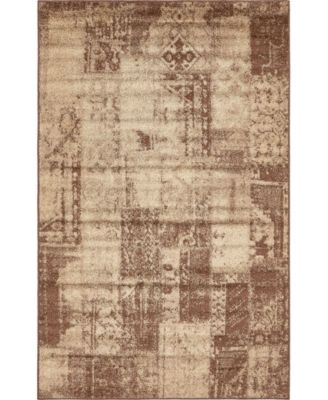 Jasia Jas07 Brown 5' x 8' Area Rug