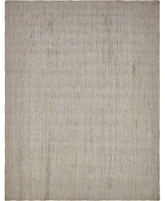 Braided Jute B Bjb5 Gray 9' x 12' Area Rug