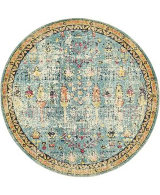 Newhedge Nhg6 Blue 8' x 8' Round Area Rug
