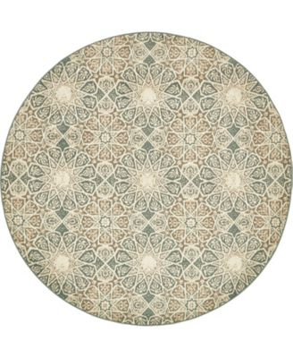 Tabert Tab3 Multi 8' x 8' Round Area Rug