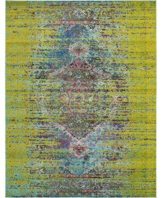 Brio Bri6 Green 8' x 10' Area Rug