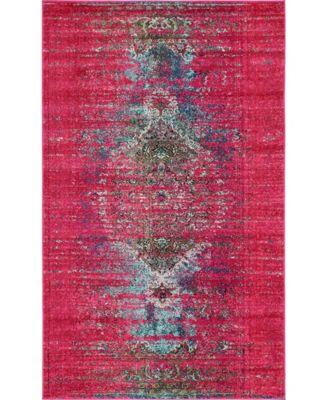 Brio Bri6 Pink 5' x 8' Area Rug