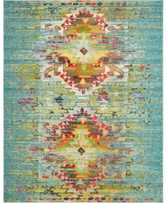 Brio Bri9 Turquoise 8' x 10' Area Rug
