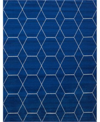 Plexity Plx1 Navy Blue 8' x 10' Area Rug