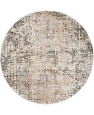 Crisanta Crs4 Gray 6' x 6' Round Area Rug