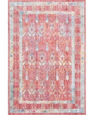 """Zilla Zil2 Red 5' 3"""" x 7' 9"""" Area Rug"""
