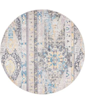 Nira Nir1 Light Brown 8' x 8' Round Area Rug