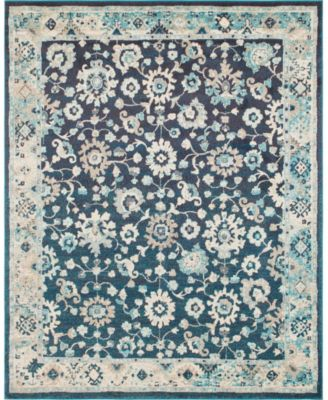Lorem Lor3 Navy Blue 8' x 10' Area Rug
