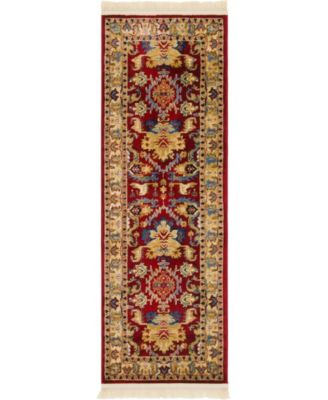 "Borough Bor1 Red 2' 2"" x 6' Runner Area Rug"