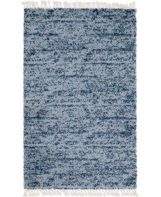 Lochcort Shag Loc3 Blue 5' x 8' Area Rug