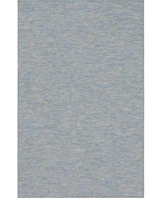 "Pashio Pas8 Blue 5' 3"" x 8' Area Rug"