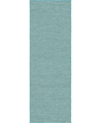 Pashio Pas8 Turquoise 2' x 6' Runner Area Rug