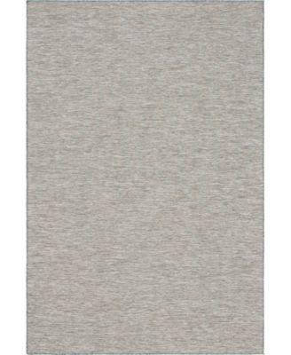 """Pashio Pas8 Light Gray 4' 2"""" x 6' Area Rug"""